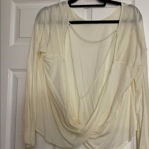 Cream open back free people top